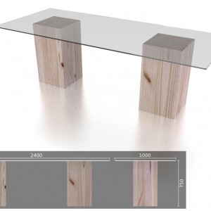 10 Seater Glass Table