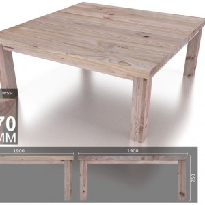 12 Seater Square Heavy Dining Table