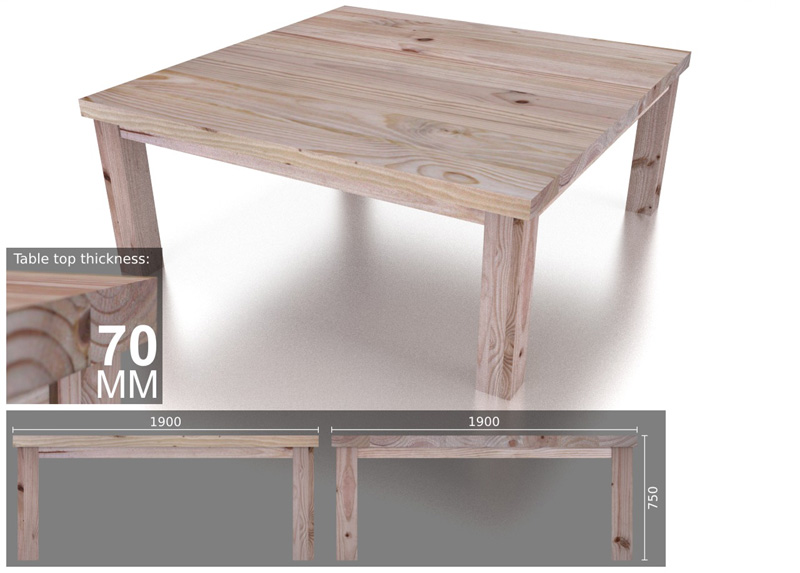 12 seater square heavy dining table - 12 Seater Square Dining Table