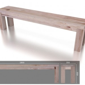 Chunky Bench 4 Seater
