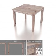 4 Seater Square Classic Dining Table