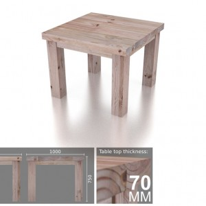 4 Seater Square Heavy Dining Table
