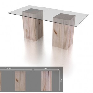 6 Seater Glass Table