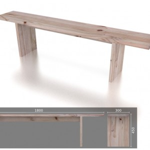 3 Seater T Bench