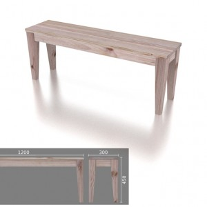 Small 2 Seater Tapered Leg Bench