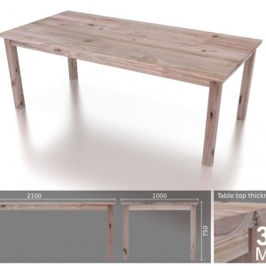 8 Seater Classic Xtra Top Dining Table