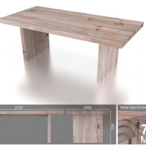 8 Seater Heavy T Dining Table