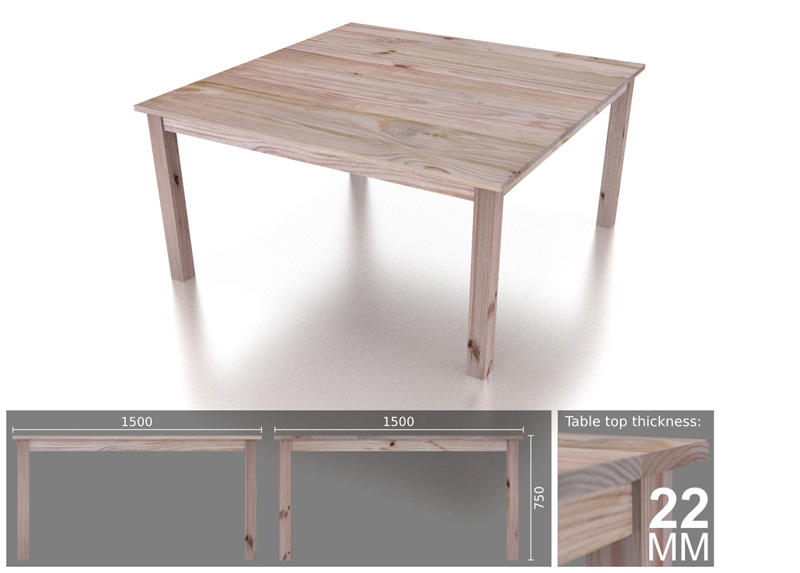 8 seater square classic dining table