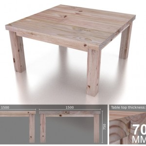 8 Seater Square Heavy Dining Table