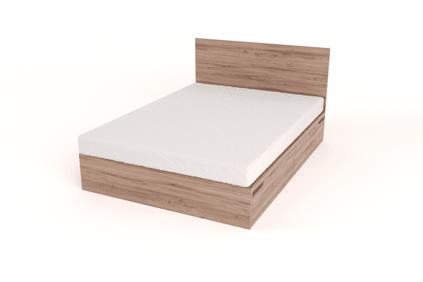 Double Drawer Bed with Headboard