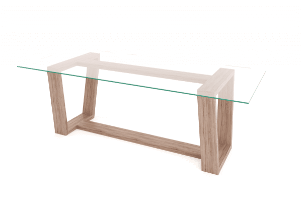 Hayley Table with Glass Top 2400 x 1000