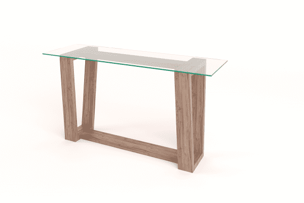 Hayley Glass Top Server Table