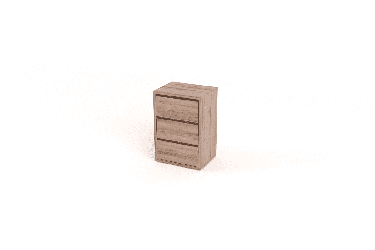 Tall Boy Side Table With 3 Drawers Eco Furniture Design