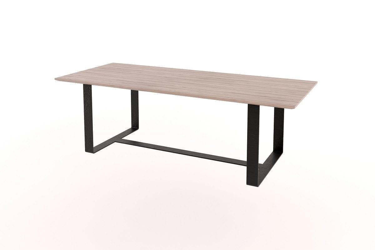 Flat bar steel frame table
