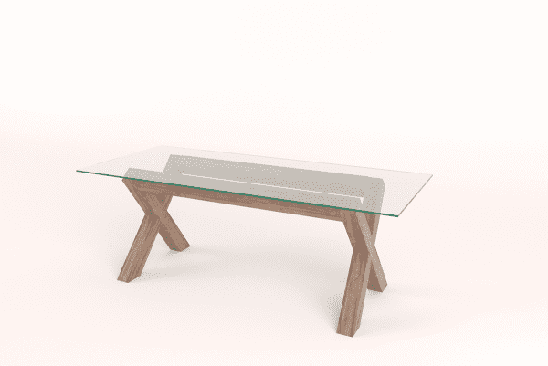 Contemporary Cross Leg Dining Table