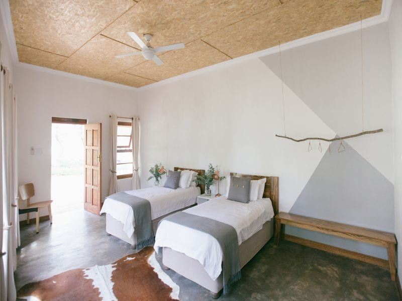 Yoga retreat guest rooms
