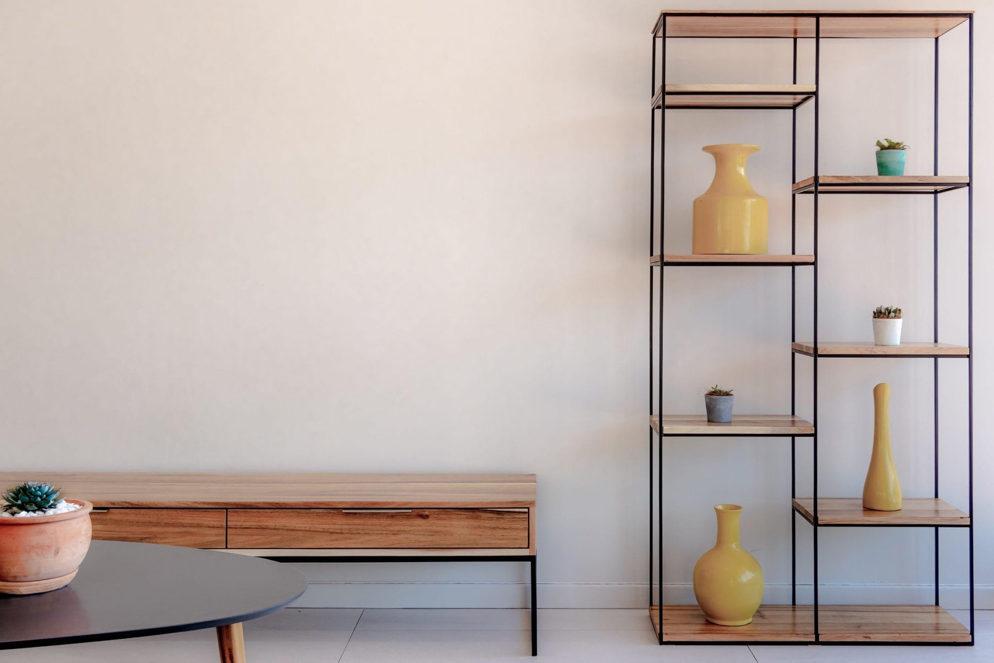 Steel Levels Display Shelf
