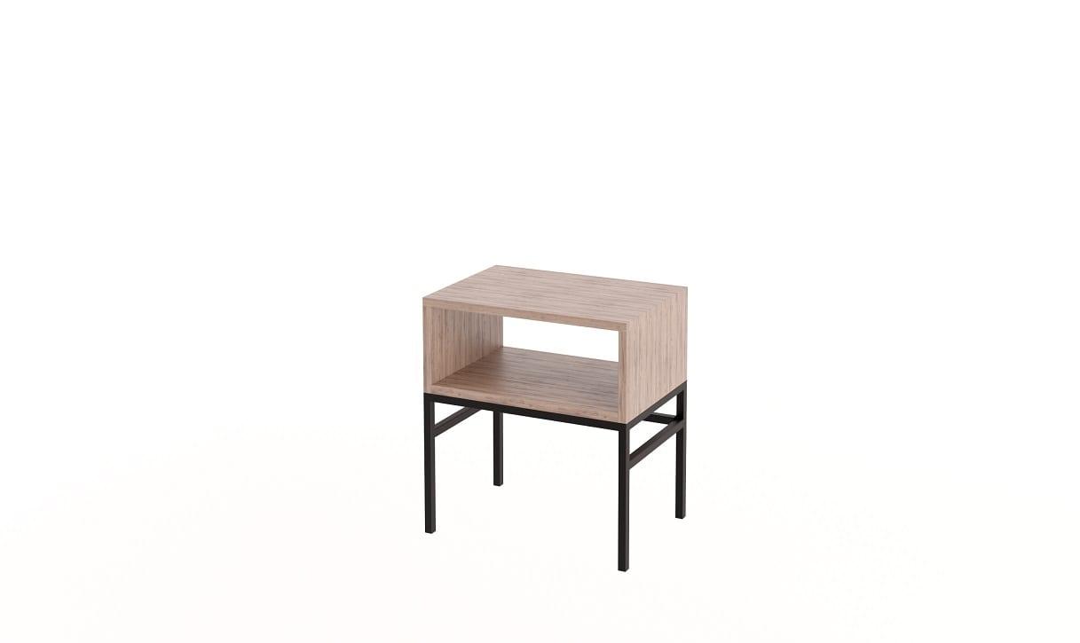 Cube Side Table Steel Base