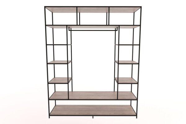 steel hanging closet wardrobe