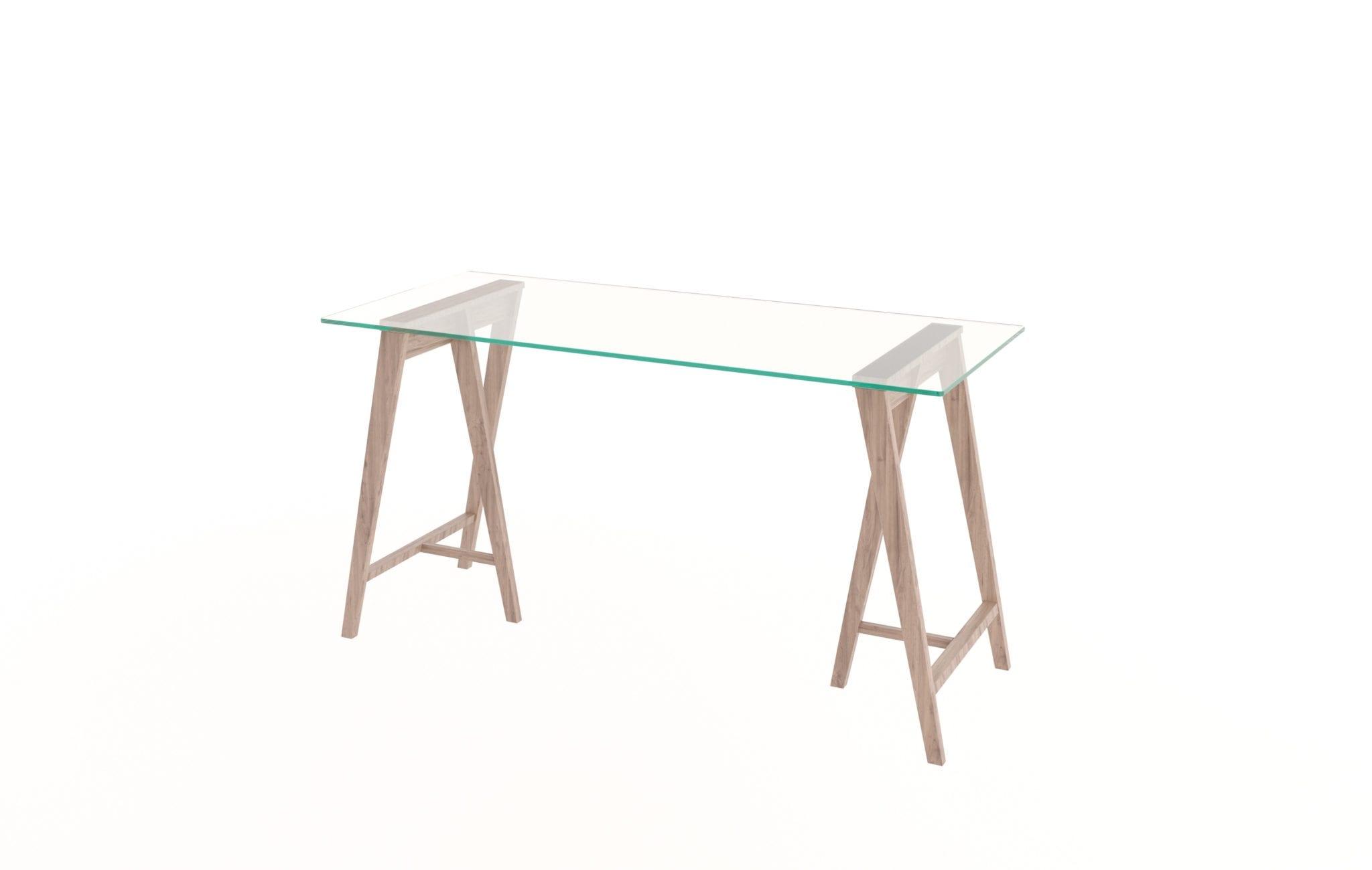 Glass Trestle Desk