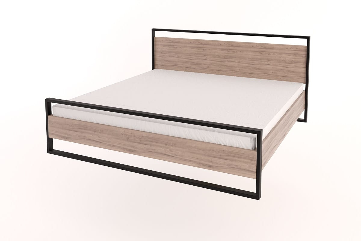 Picture of: Steel Frame Bed With Headboard King Size Bedroom Furniture For Sale