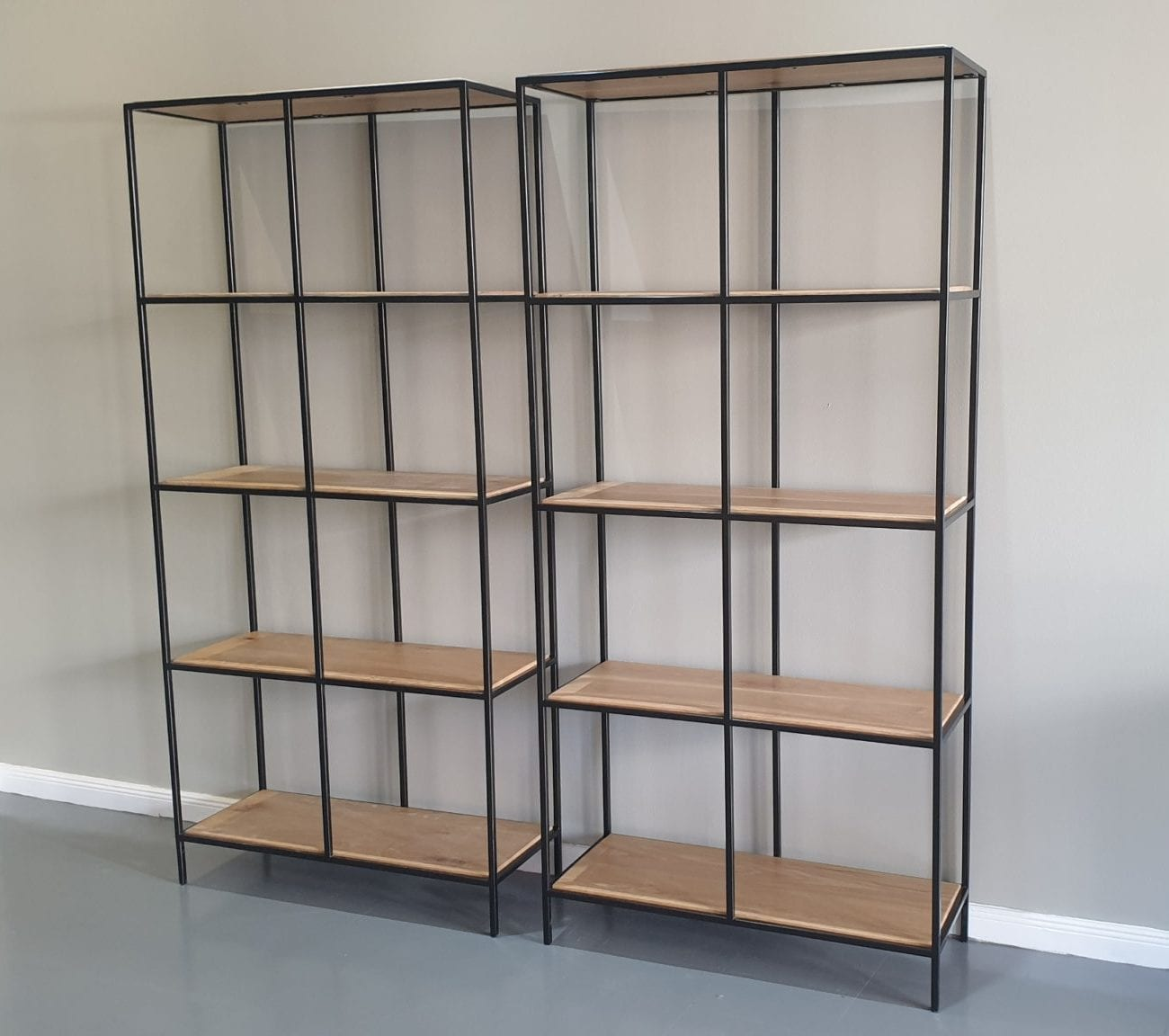 Steel and Wood Bookshelf