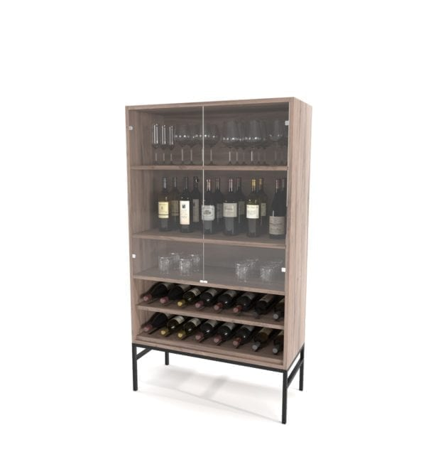 Cabinets & Servers Drinks Cabinet on Steel Base Cabinets and Servers
