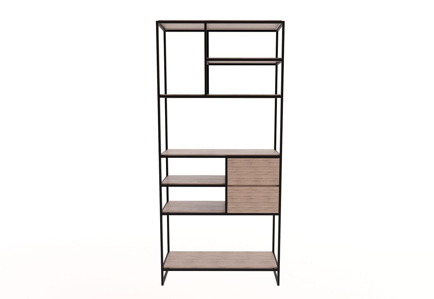 Display Shelves Marley Steel Shelf 2 Drawers Shelving